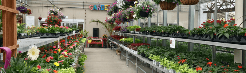 Garden Center website header